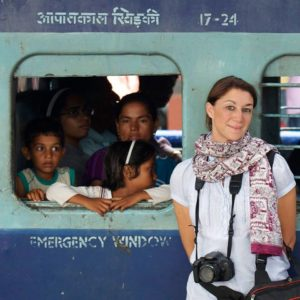 Train hopping in India.