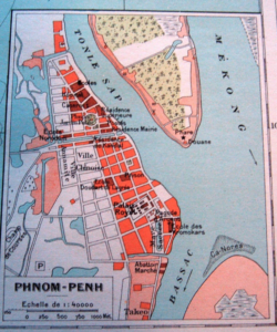 Old Map of Phnom Penh 1938